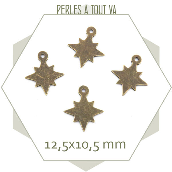 vente breloque étoile bronze