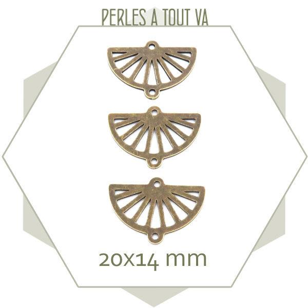 fournisseur breloque demi cercle bronze