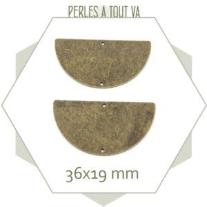 grand connecteur demi cercle bronze