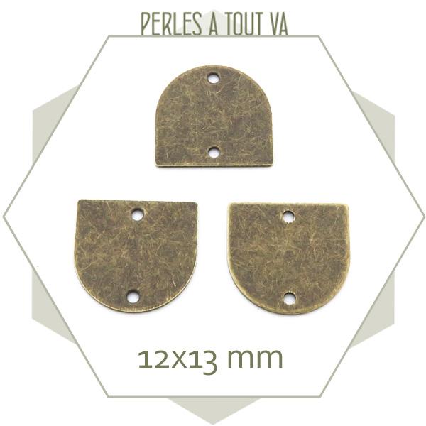 connecteur demi ovale bronze