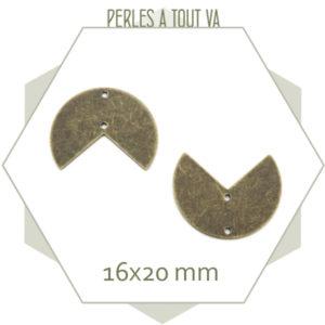 connecteur cercle évidé bronze