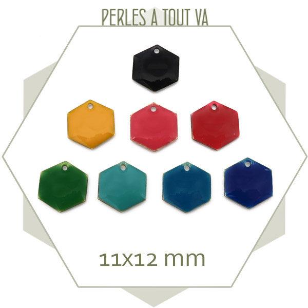 Vente lot sequins émaillés hexagone