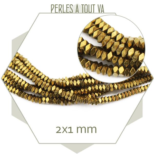 perles hématite dorée en gros