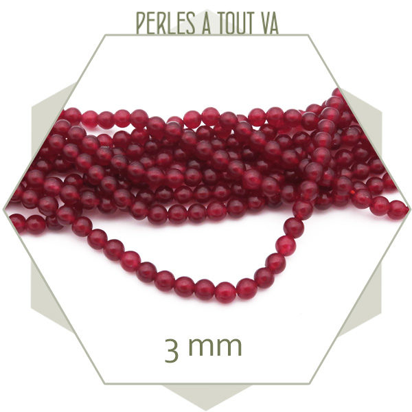fournisseur perles jade rouge