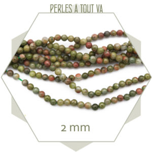 vente perles ronde unakite en gros