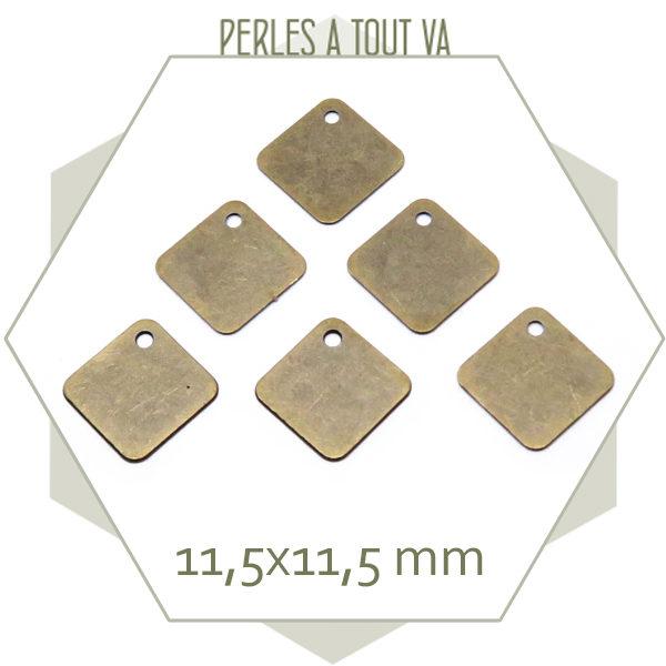 fournisseur breloque losange bronze