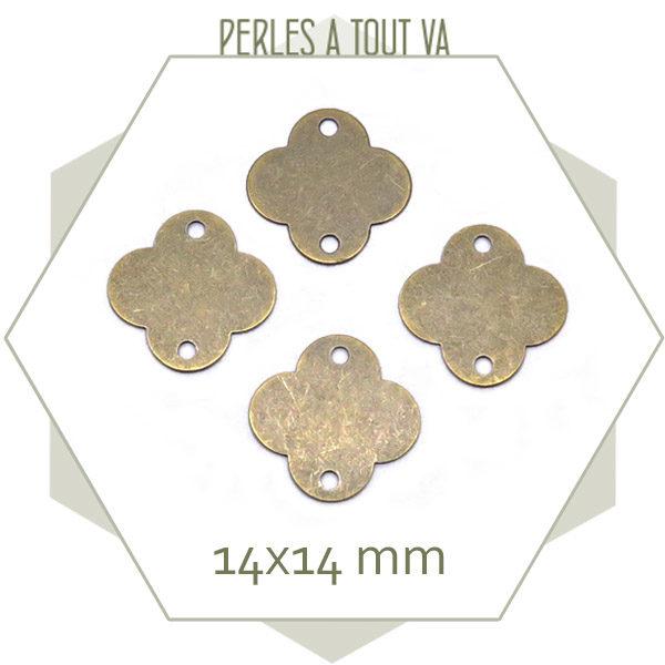 vente breloque trèfle bronze