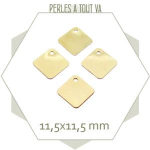 fournisseur breloque losange dorée