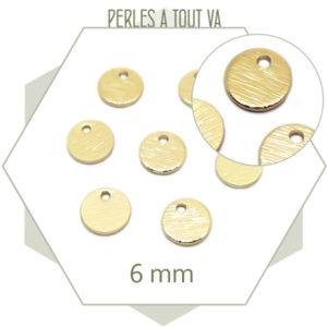 petit pendentif rond texturé pour bijoux