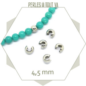 Achat perles cache noeud en acier