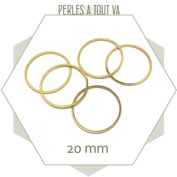 Vente anneaux fermés acier doré