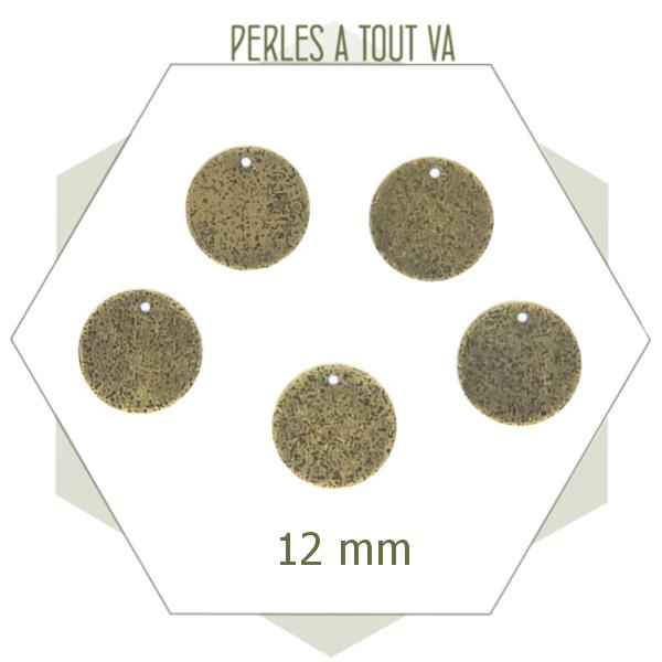Fournisseur breloque ronde bronze