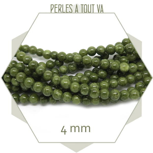 rang de perles jade vert