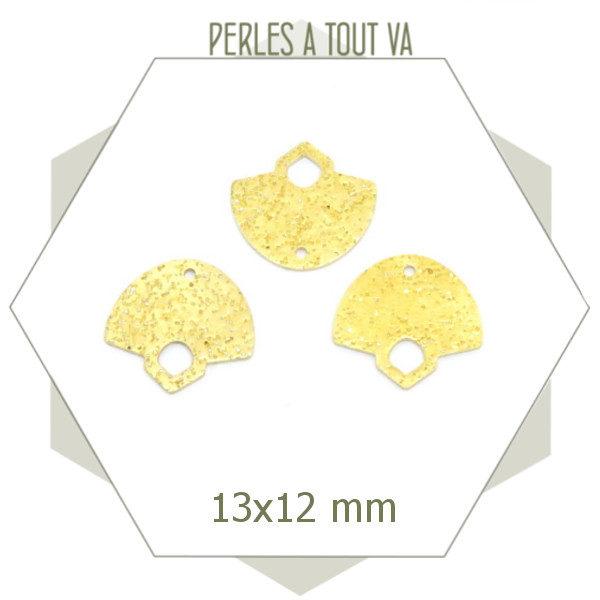 Connecteur laiton brut pour bijoux