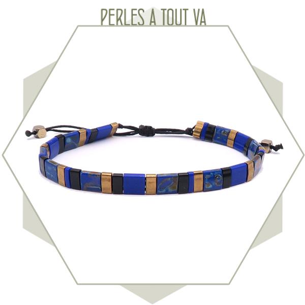 Kit bijou perles tila DIY bleu