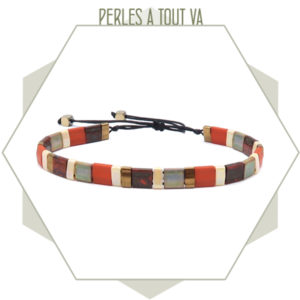 création bracelet tila orange