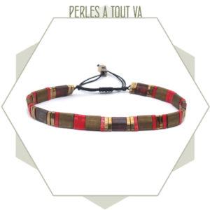 création bracelet tila rouge