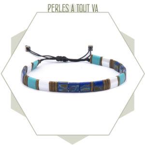 création bracelet tila turquoise