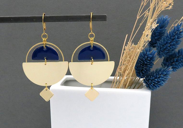 kit création boucles d'oreilles dorées