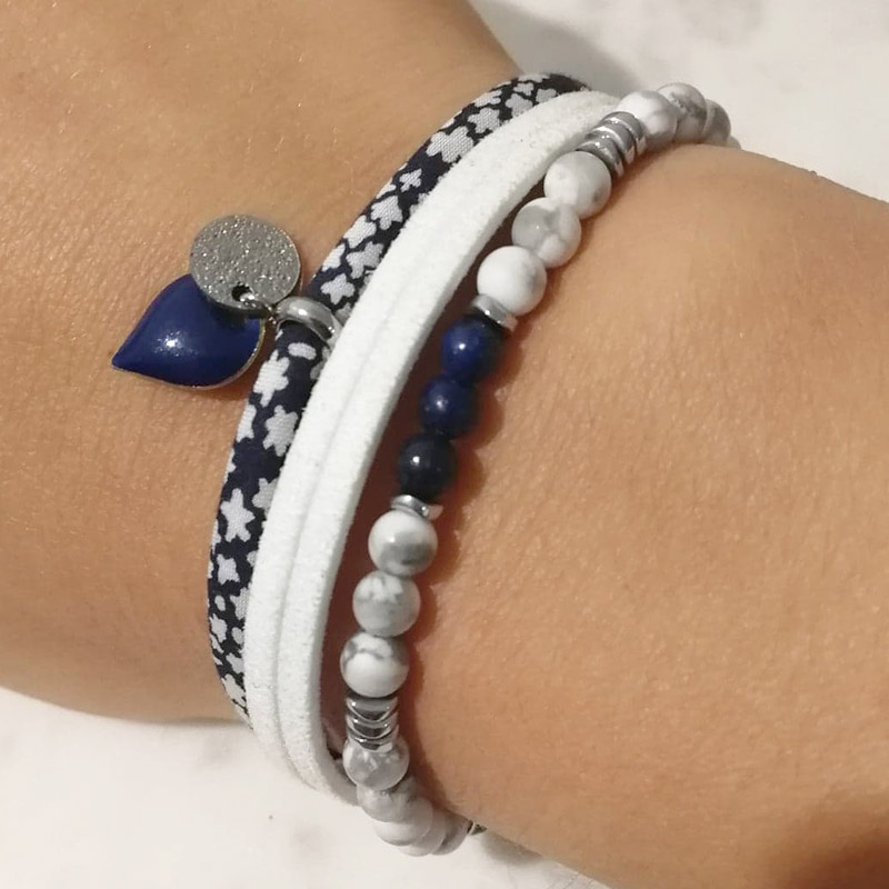 Mix bracelets cordon liberty