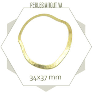 breloque anneau irrégulier doré