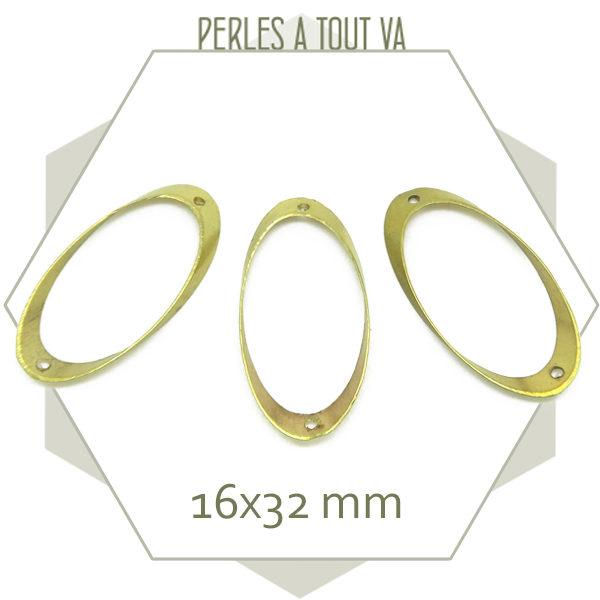 Vente connecteur ovale laiton