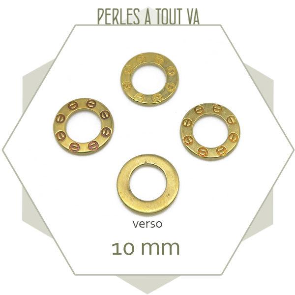 Vente anneaux ronds à motifs