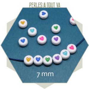 fournisseur perles coeur couleurs