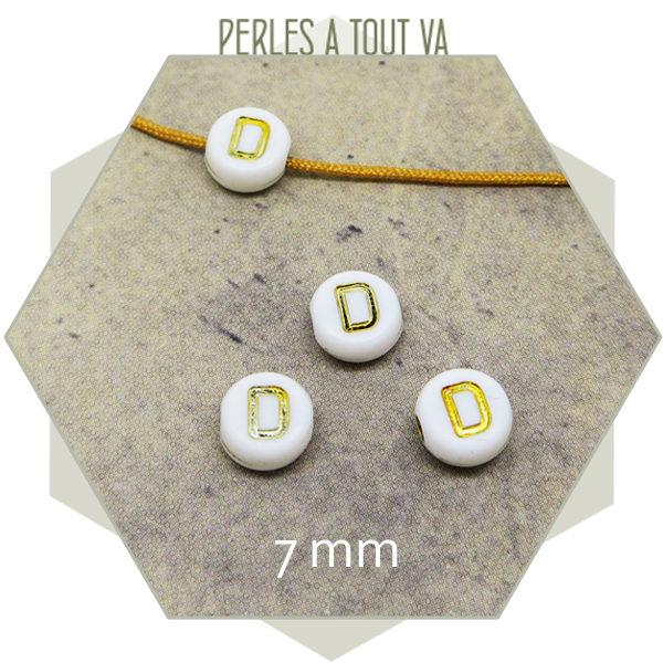 Vente en gros perles lettres D