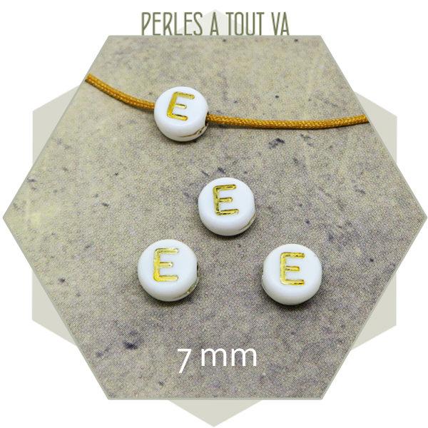 Grossiste perles lettres E