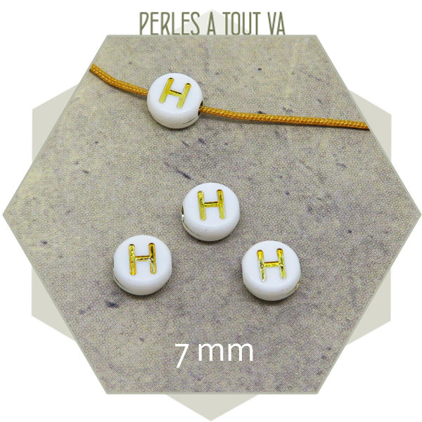 Grossiste perles lettres H