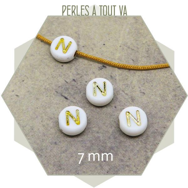 Vente en gros perles alphabet N