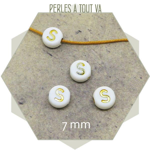 Fournisseur perles alphabet S