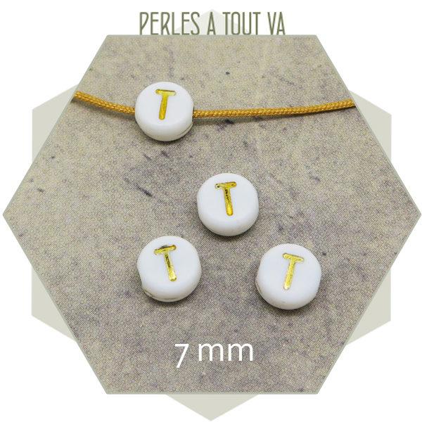 Fournisseur perles alphabet T