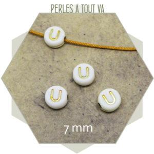 Fournisseur perles alphabet U