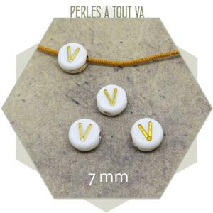 Fournisseur perles alphabet V
