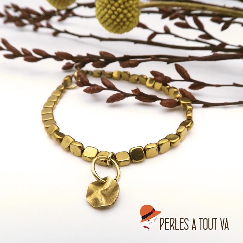 Bracelet hématite doré DIY