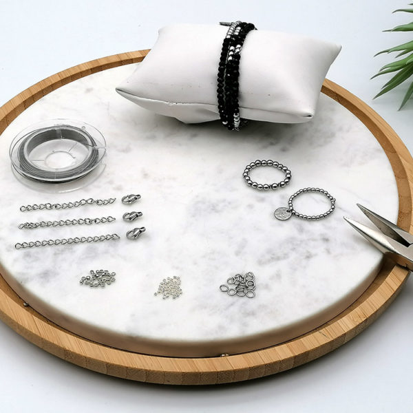 Kit création bijou fil cablé argent