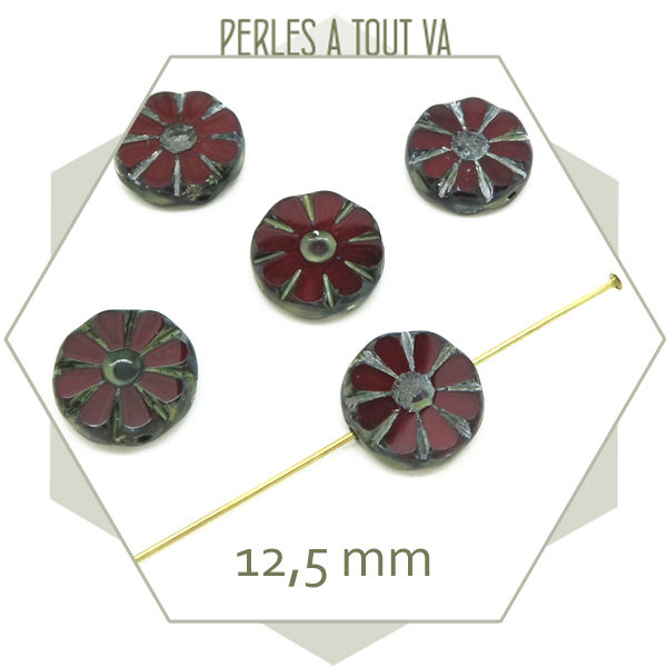 Grossiste perles tchèque fleur