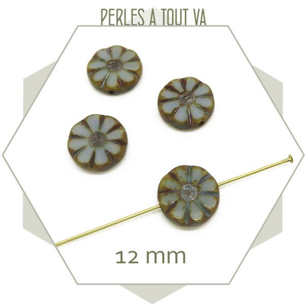 Fournisseur perles tchèque fleur