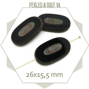 Grossiste perles en verre ovale