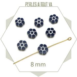 Achat perles tchèque fleurs