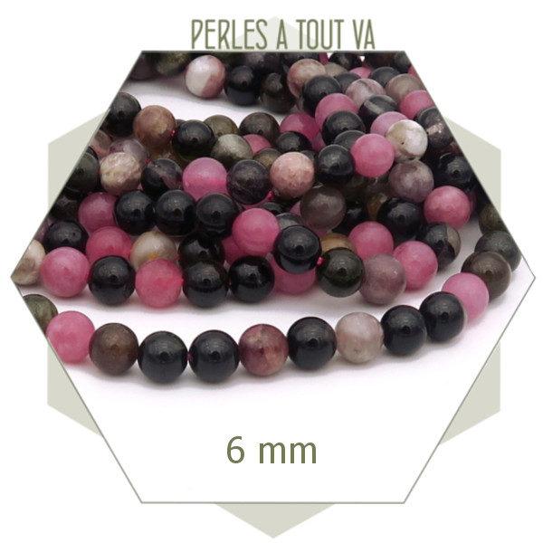 créer un bijou avec des perles tourmaline