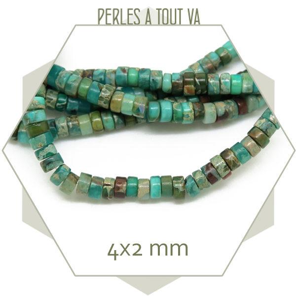 Achat en gros perles heishi pierre naturelle