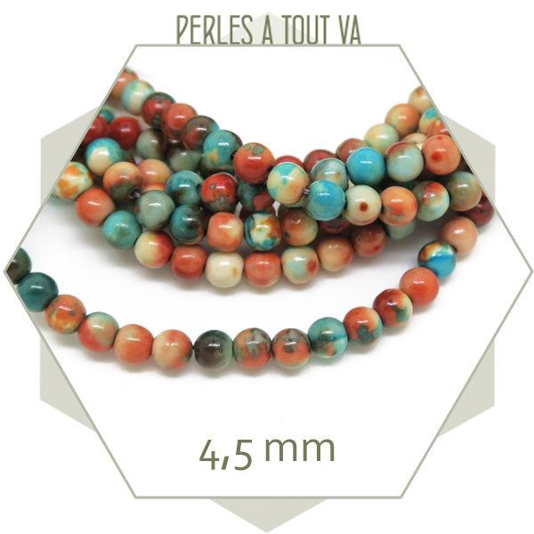 Perles en gros faience aquarelle