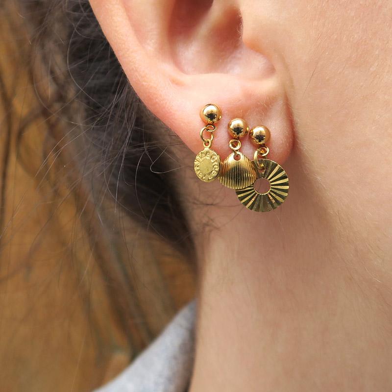 mix boucles d'oreilles or