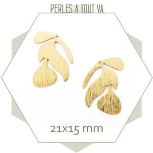 Vente breloques feuilles dorées pour bijoux