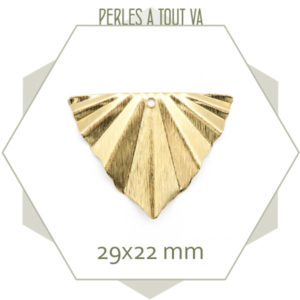Vente pendentif triangle plissé