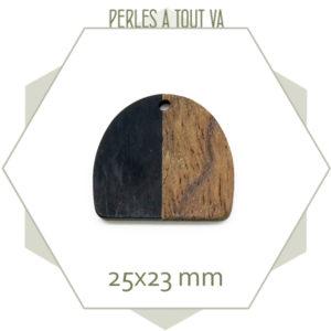 Achat breloque bois et noir