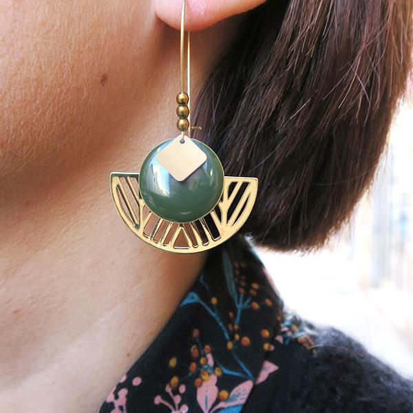 Vente en ligne kit boucles d'oreilles dorées